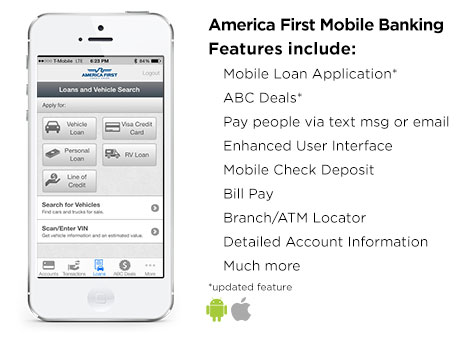 America First Mobile Banking Features